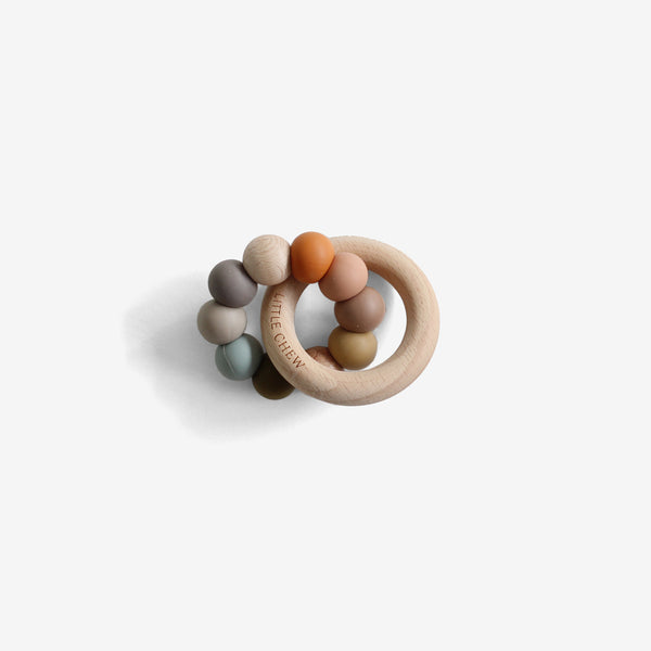 Silicone Bead + Wood Ring Teether - Danni