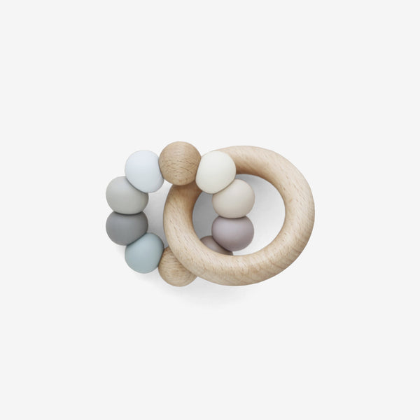 Silicone Bead + Wood Ring Teether - Leila