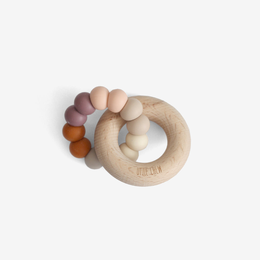 Silicone Bead + Wood Ring Teether - Minde