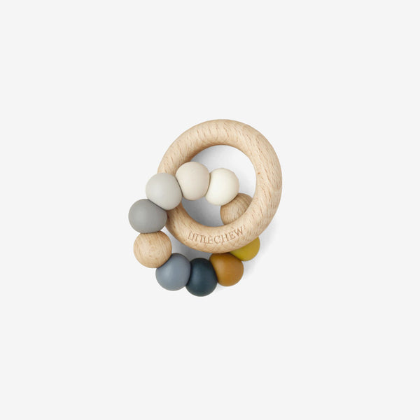 Silicone Bead + Wood Ring Teether - Fila
