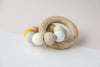 Silicone Bead + Wood Ring Teether - Melody