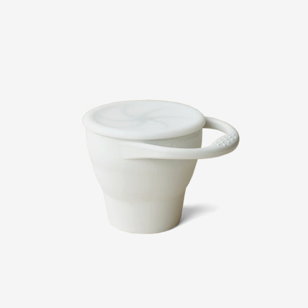 Silicone Snack Cup - Silver Ivory