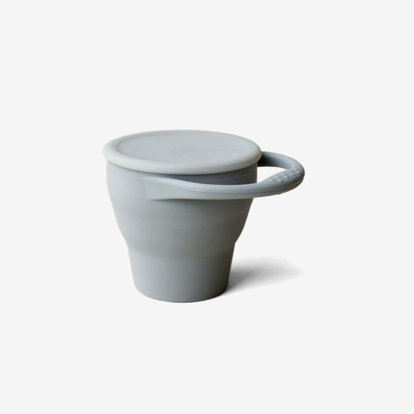 Silicone Snack Cup - Silver Blue