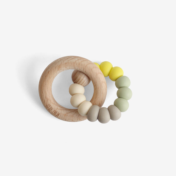Silicone Bead + Wood Ring Teether - Sprout