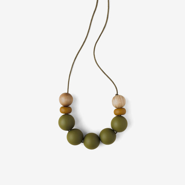 Mommy Silicone Bead Necklace - Minimal