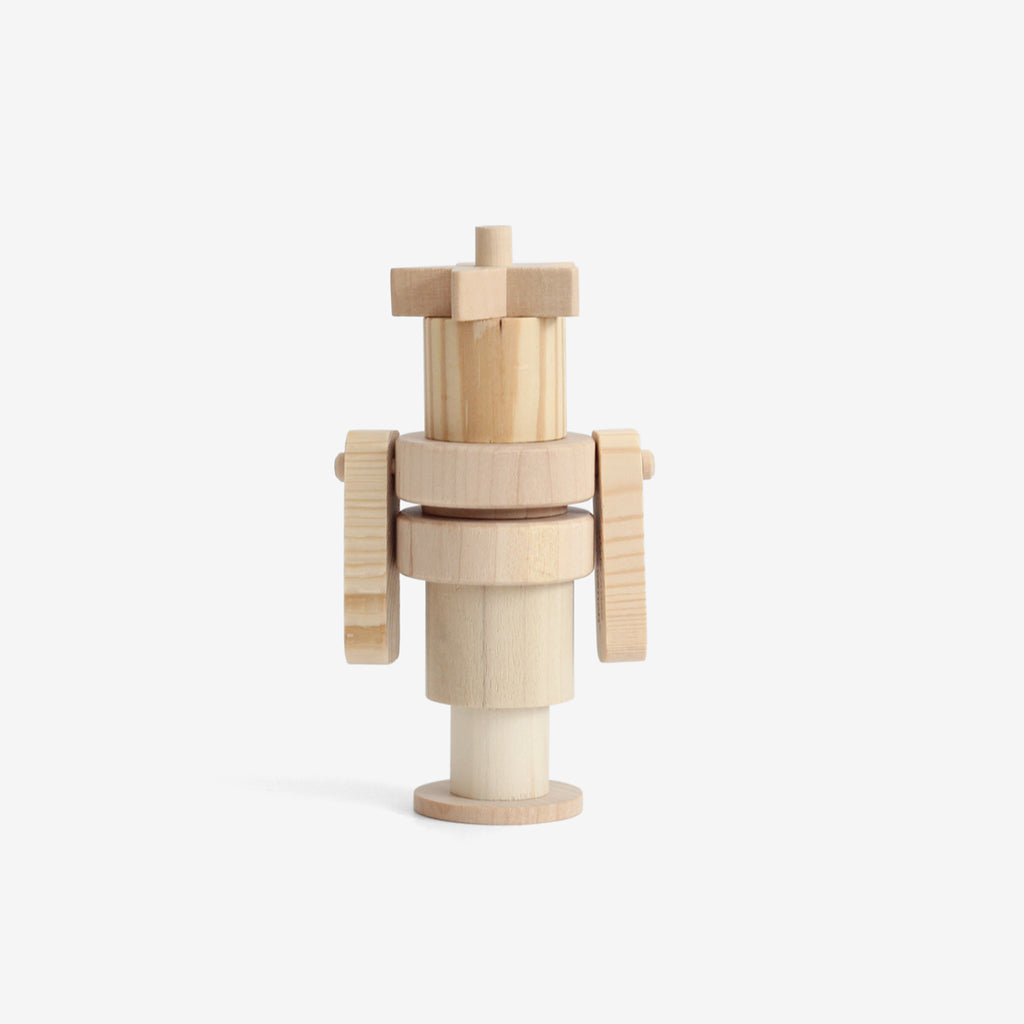 Wooden Robot Stacker - Ann Droid