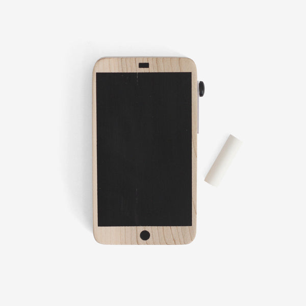 Chalk Talk - wooden chalkboard cellphone