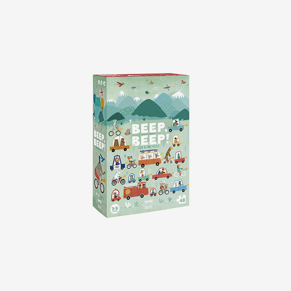 Beep! Beep! 48-Piece Observation Puzzle & Game