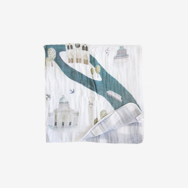 Bamboo/Cotton Muslin Quilt - Paris