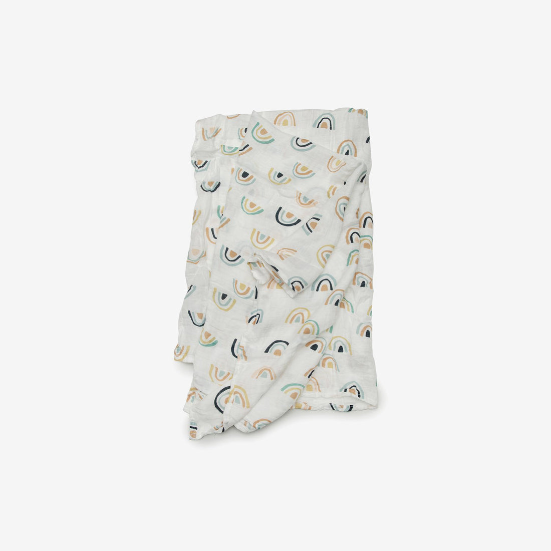 Bamboo/Cotton Muslin Swaddle - Neutral Rainbow