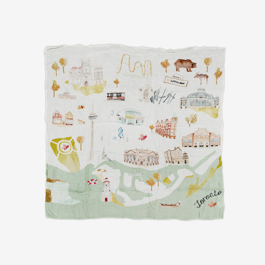 Bamboo/Cotton Muslin Swaddle - Toronto