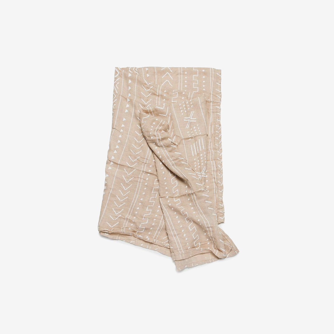 Bamboo/Cotton Muslin Swaddle - Almond Dash