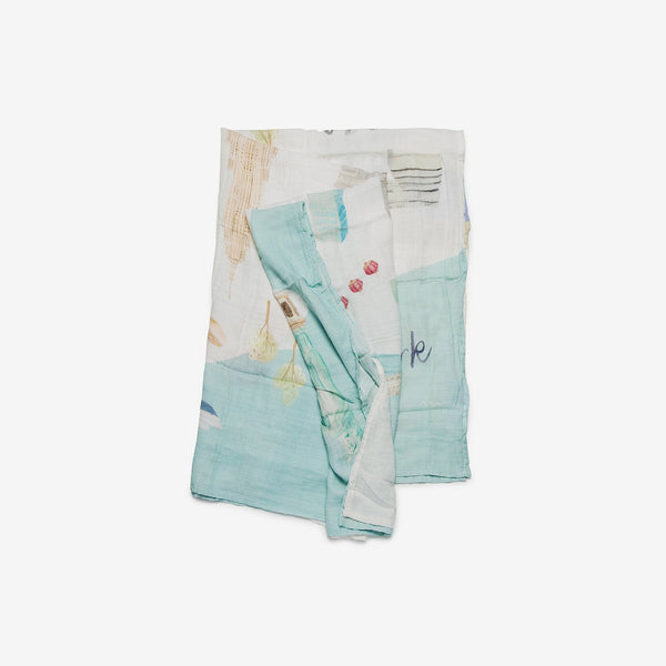Bamboo/Cotton Muslin Swaddle - New York City