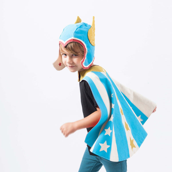 Winged Hero Hat - Blue