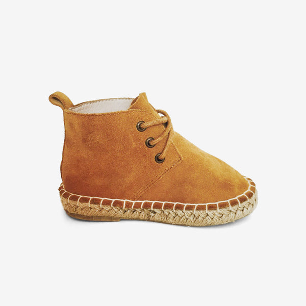 Wheat Suede High Top Boots
