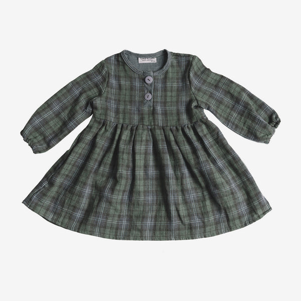 Halsey Dress - Green Plaid