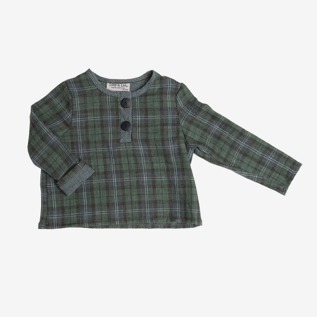 Henry Green Plaid Henley
