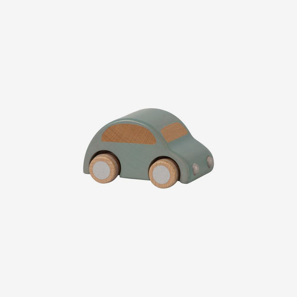 Pull-back Wooden Car - Light Blue