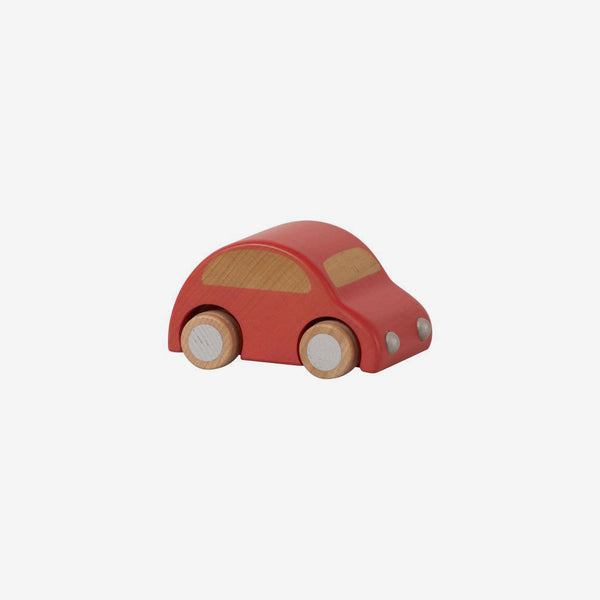 Pull-back Wooden Car - Retro Red