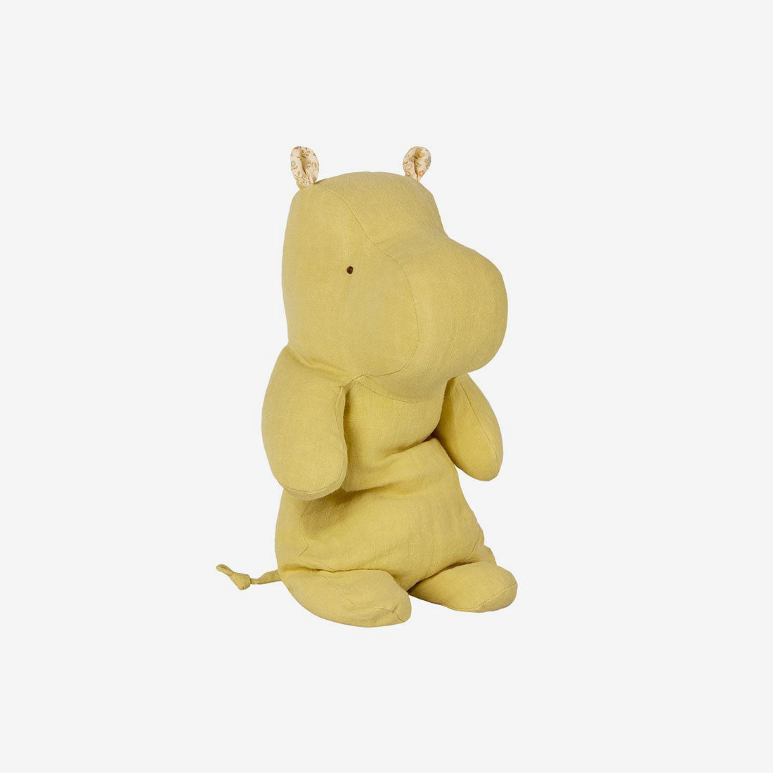 Safari Friends Large Hippo - Lime Yellow