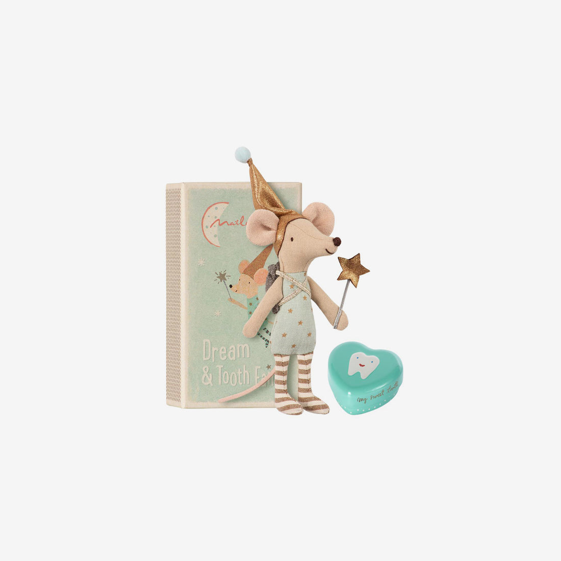 Tooth Fairy Mouse with Metal Box