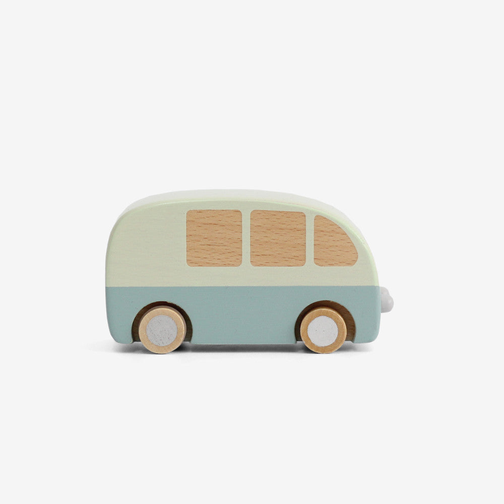 Wooden Bus - Blue