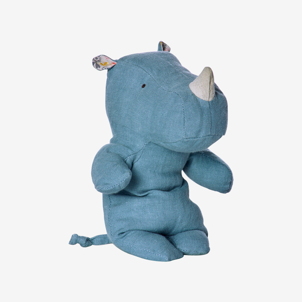 Safari Friends Baby Rhino - Blue