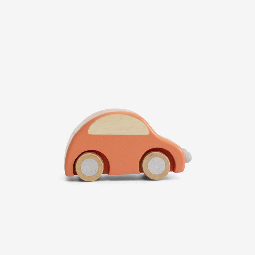 Wee Wooden Car - Orange
