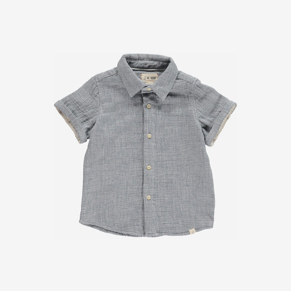 Classic Cotton Woven Button-down - Blue