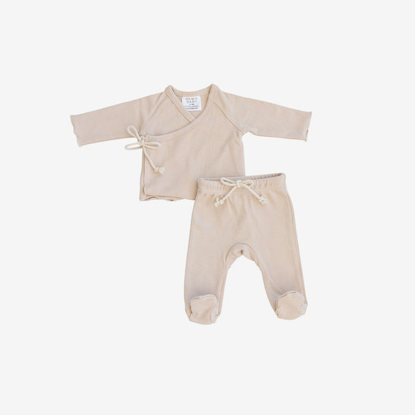 Cotton Jersey Layette Set - Oat