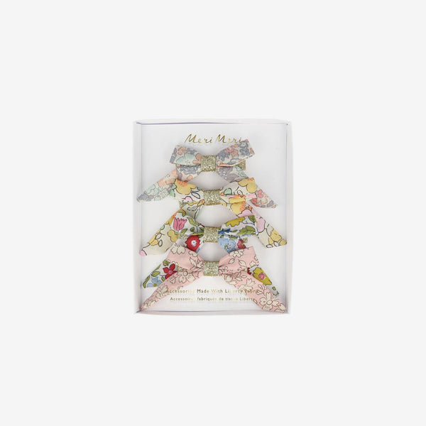 Hair Bow Clips 4-Piece Set - Liberty Florals