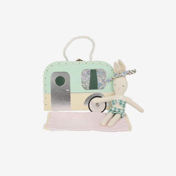Mini Suitcase Doll - Caravan Bunny