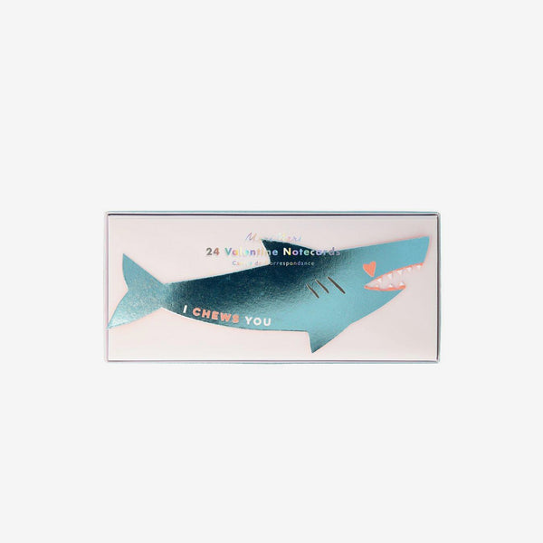 Shark Sticker Love Notes Valentines