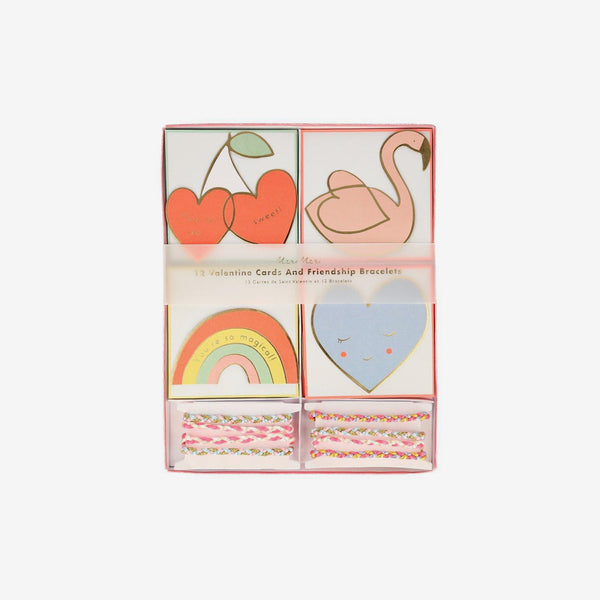 Valentine Cards Set of 12 - Friendship
