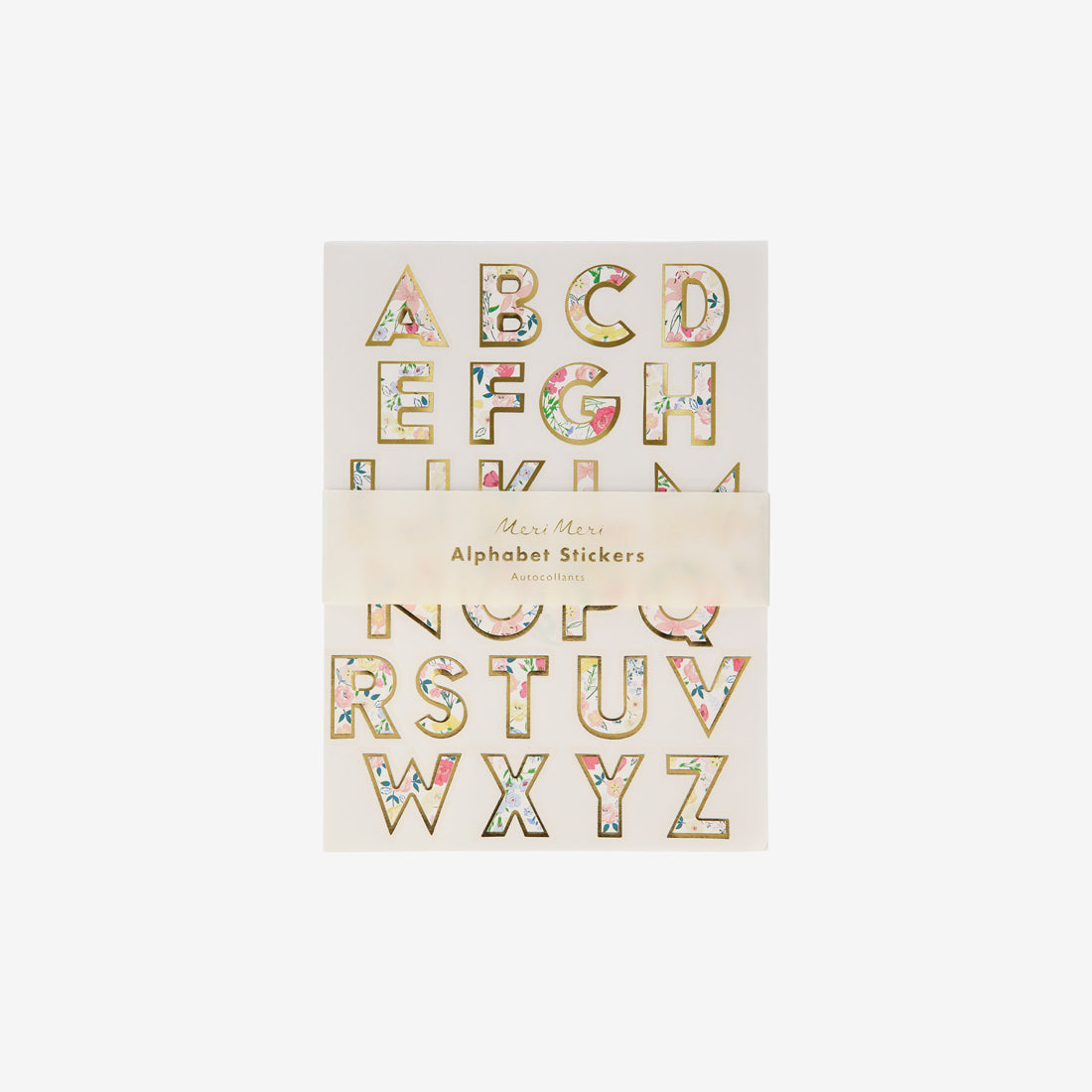 Alphabet Sticker Sheet - English Garden