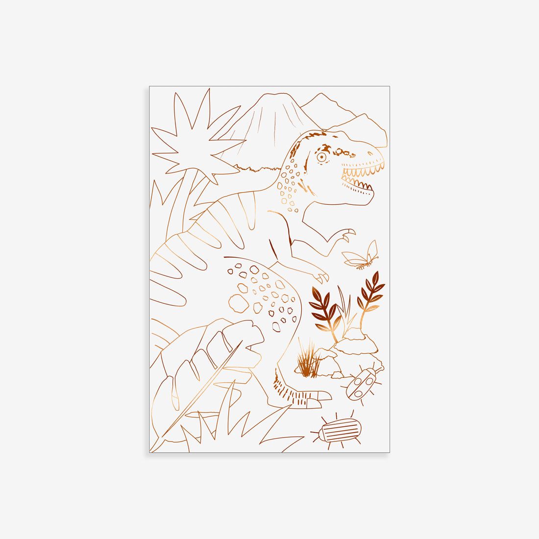 Foil Coloring Posters - Dinosaur Kingdom
