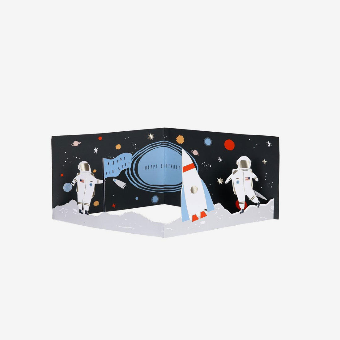 Concertina Birthday Card - Space