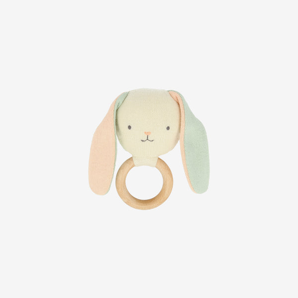 Organic Knit Baby Rattle - Bunny
