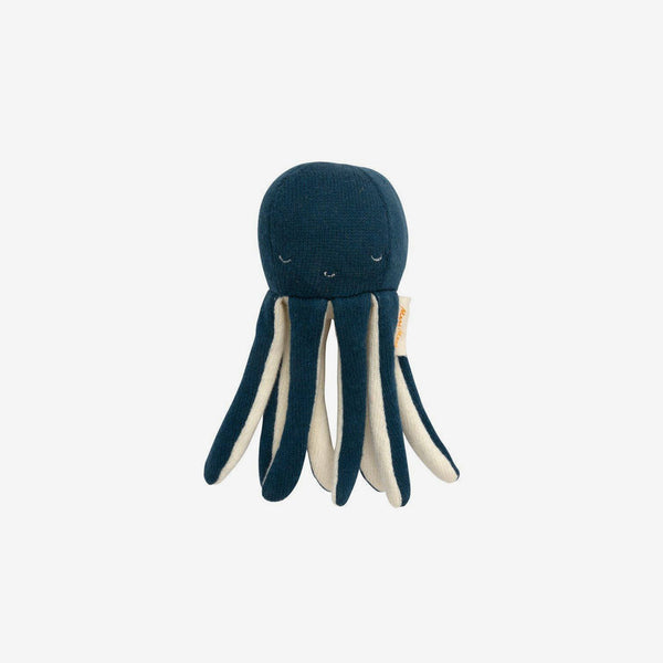 Organic Knit Baby Rattle - Octopus