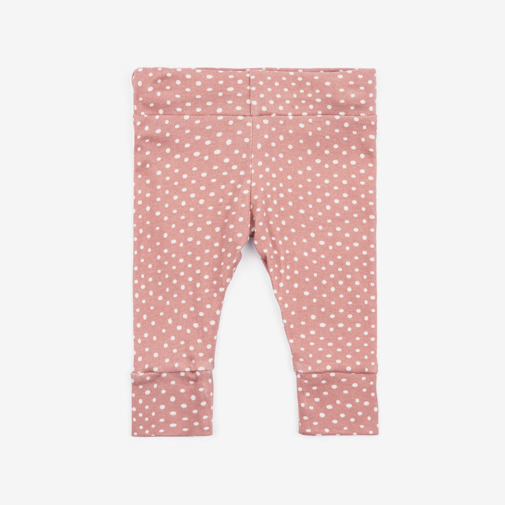 Organic Baby Legging - Rose Dot