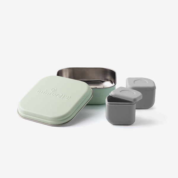 Grow Bento + 2 Silipods - Grey/Keylime