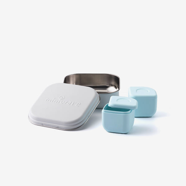 Grow Bento + 2 Silipods - Aqua/White