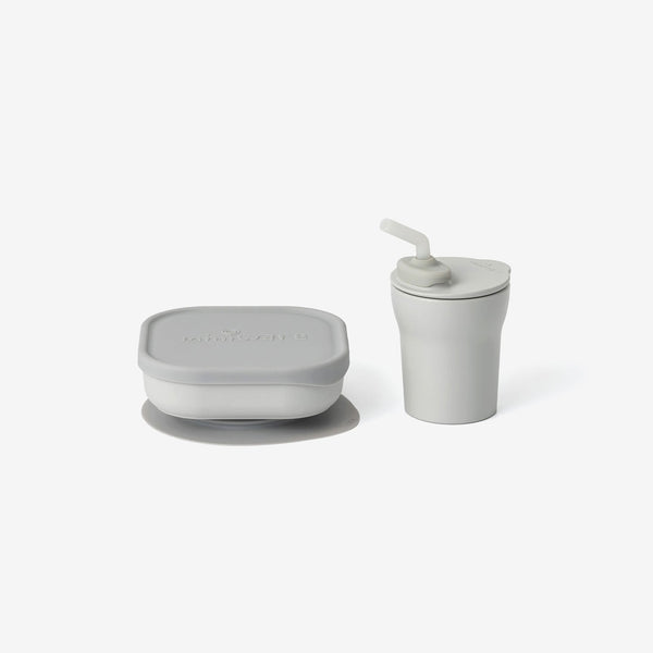 PLA Sip + Snack Set - Dove Grey