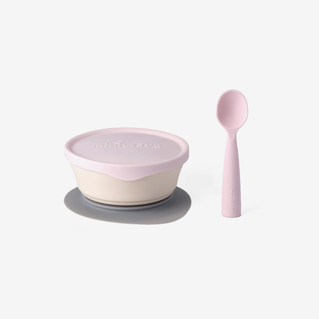 First Bites PLA Kid's Dish Set - Cotton Candy