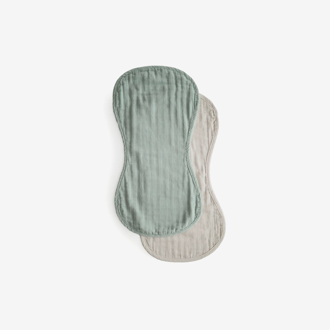 Organic Cotton Burp Cloth Set - Roman Green + Fog
