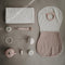 Organic Cotton Burp Cloth Set - Blush + Fog