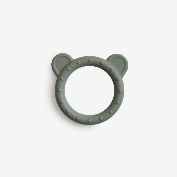 Silicone Bear Teether Toy - Dried Thyme