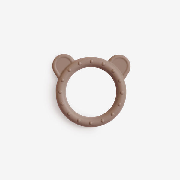 Silicone Bear Teether Toy - Natural