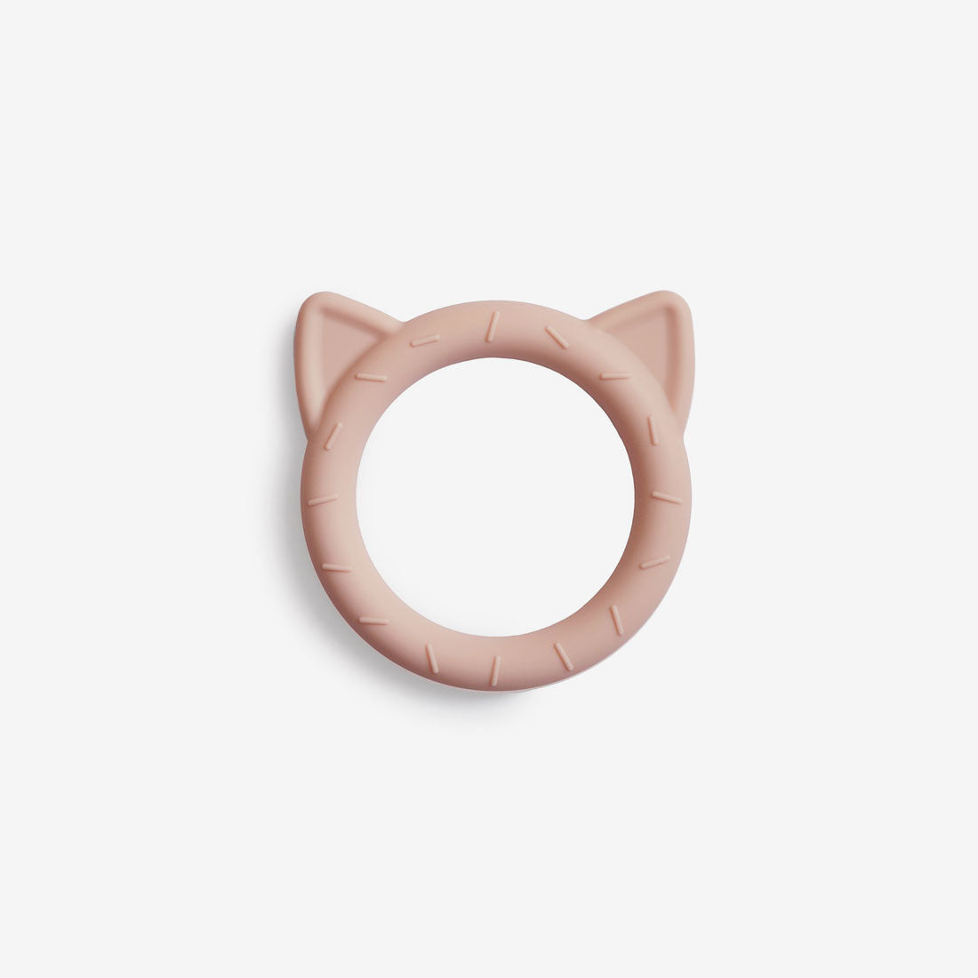 Silicone Cat Teether Toy - Blush