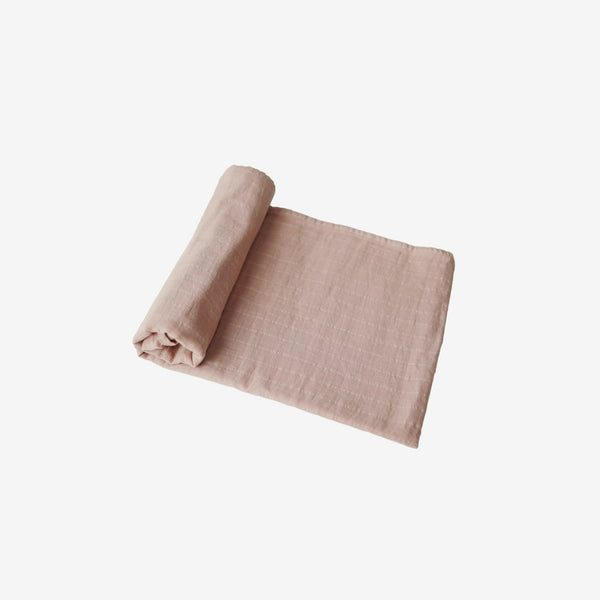 Organic Muslin Swaddle - Blush